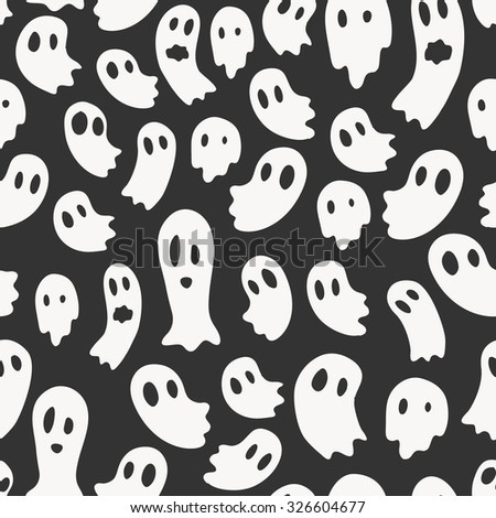 Vector seamless pattern with ghosts