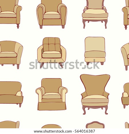 Sofa set vector illustration stock vector 542250751 for Chair design elements