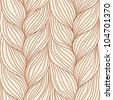 Vector seamless pattern with interweaving of braids. Abstract illustration of hairstyle of plait.. Background in the form of a knitted fabric. Stylized textured yarn close-up. - stock vector