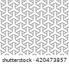 Vector seamless pattern, y tiles pattern, weaving pattern, interlocking pattern, islamic pattern - stock vector