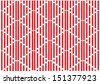 vector seamless red and white lines - stock
