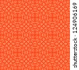 Vector seamless red pattern with interweaving of light linear concentric circles. Simple ornamental illustration with stylized texture of covering. Abstract background for paper, textile, print, web - stock vector