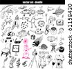 vector set - doodles - stock photo