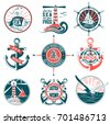 vector set of badges with a...