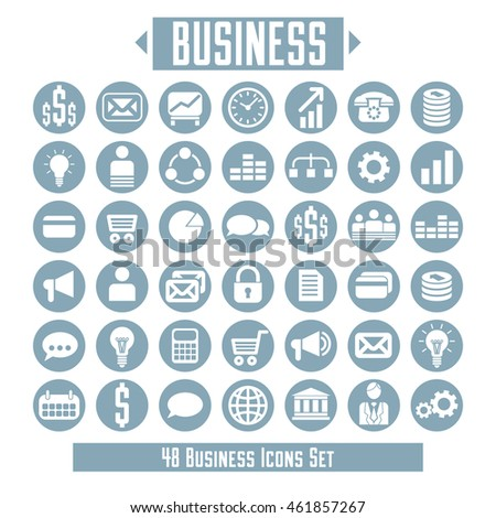 Vector set of business icons and design elements for your layout.