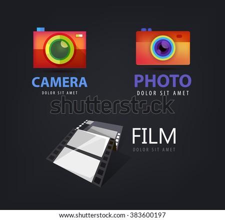 Abstract letter symbol alphabet b logo stock vector for Camera film logo