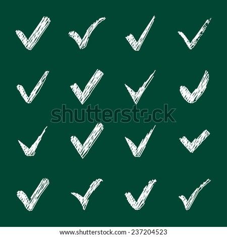 Cool check sign set vector stock vector 40459429 for Cool check designs