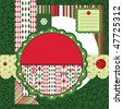 Vector Set of Christmas backgrounds and design elements - stock vector
