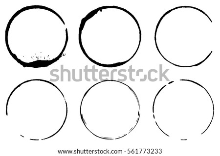 stock vector vector set of coffee ring stains grunge style design 561773233 White Coffee Cup Vector Illustration Design Graphic Collection Mark Stain Splatter Cup Grunge Coffee Stain Dirty