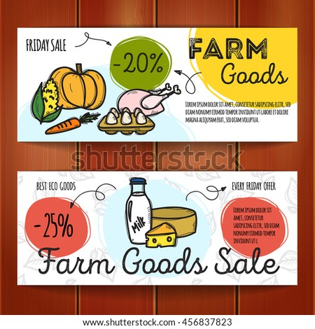 Vector Set Discount Coupons Fast Food Stock Vector