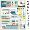 vector set of Infographic - stock vector