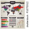 Vector set of infographics elements. - stock vector