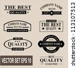 Vector set of vintage quality guaranteed labels - stock vector