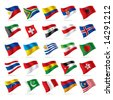 Vector set of world flags 3 - stock photo