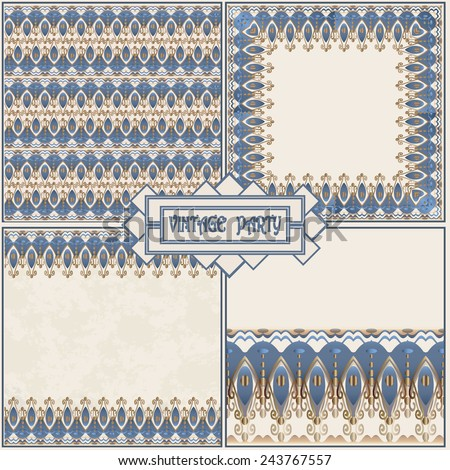 Vector set retro pattern for vintage party in Gatsby style