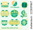 Vector Set: Vintage Economics Class Labels and Icons - stock photo