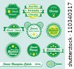 Vector Set: Vintage Tennis International Champion Labels - stock vector