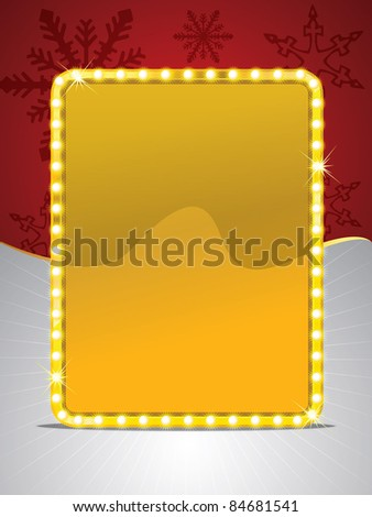 Vector shining frame and Christmas background