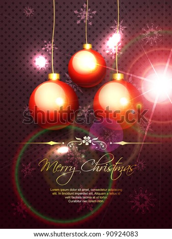 vector shiny merry christmas background design
