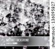 Vector shiny silver abstract background. Editable creative illustration.  - stock photo