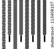 vector shoe lace seamless symbols - stock vector