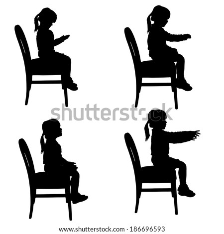 silhouette naked girl sitting in saddle