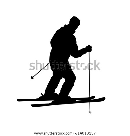 Vector Silhouette Graphic Depicting Man Doing Stock Vector