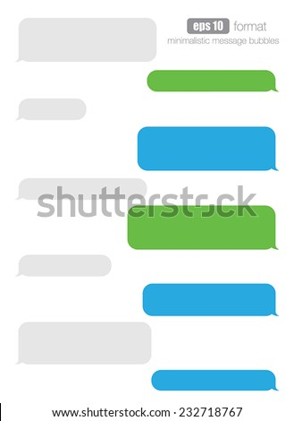 Vector smartphone chat bubbles.