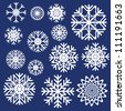 Vector snowflakes set - stock vector