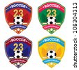 Vector soccer badge / Vector soccer labels / Soccer emblems - stock photo