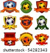 Vector soccer emblems - stock photo