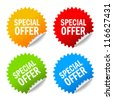 Vector special offer labels set - stock vector