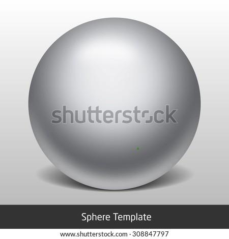 sphere net template - vector metal sphere stock vector 192080864 shutterstock