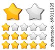 Vector star rating - stock photo