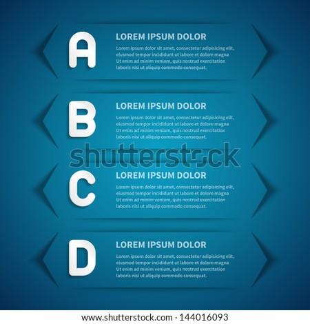 ... design template for web site. Vector illustration. - stock vector