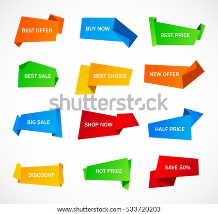 Vector Stickers Price Tag Banner Label Stock Vector 587927939