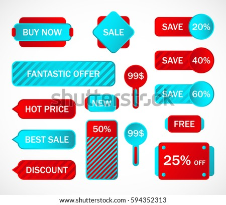 Vector Stickers Price Tag Banner Label Stock Vector 460460491