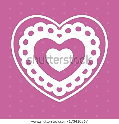 Vector Stylish Cute Valentines Day Design Editable