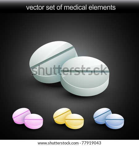 vector tablet in four diffrenet colors
