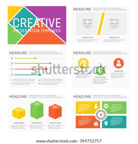 Vector template for multipurpose presentation slides with graphs and charts. Elements, chart, graph, brochures