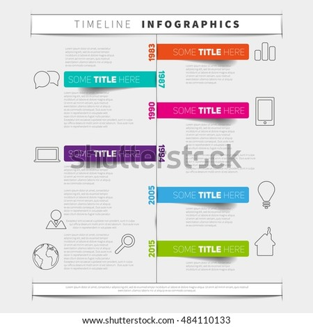 Vector Timeline Infographic Report Template Paper Vector – Report Paper Template