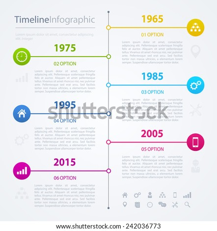 Horizontal Timeline Infographics Design Template Vector Stock ...