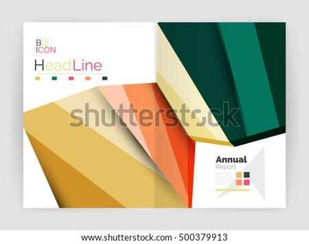 Vector Template Book Flyer Design Brochure Vector 330417653 – Business Annual Report Template