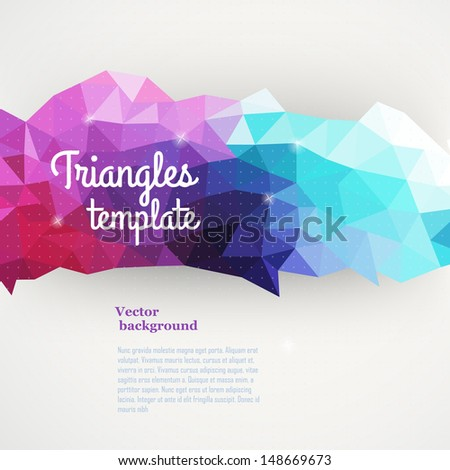 Vector triangle pattern background, triangles background, vector illustration with plenty space for your text. Geometric backdrop. Modern banner design template, vector illustration.