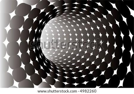 Black White Balloons Background Stock Illustration