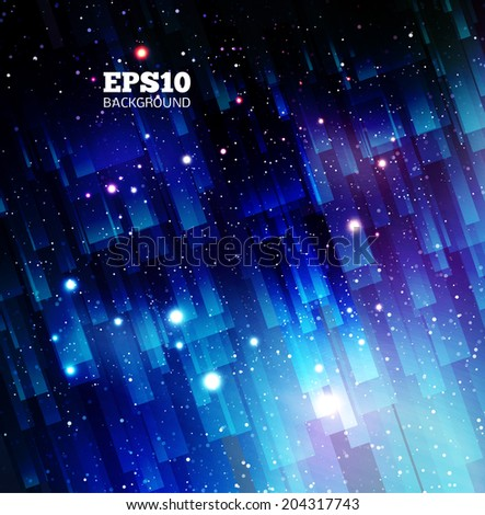 Vector Universe background for presentation design. Brochure star and space template