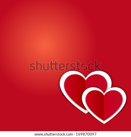 Vector Valentines day card with heart and place for text.
