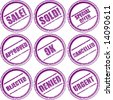 vector. various circular rubber stamp signs - stock photo