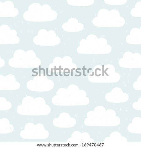 Vector vintage cloudy pattern