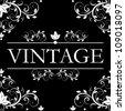 vector vintage decor - stock vector